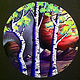 Aspen Tree Landscape Painting  - Painting on Vinyl Record by Mr Mizu by Isaac Carpenter