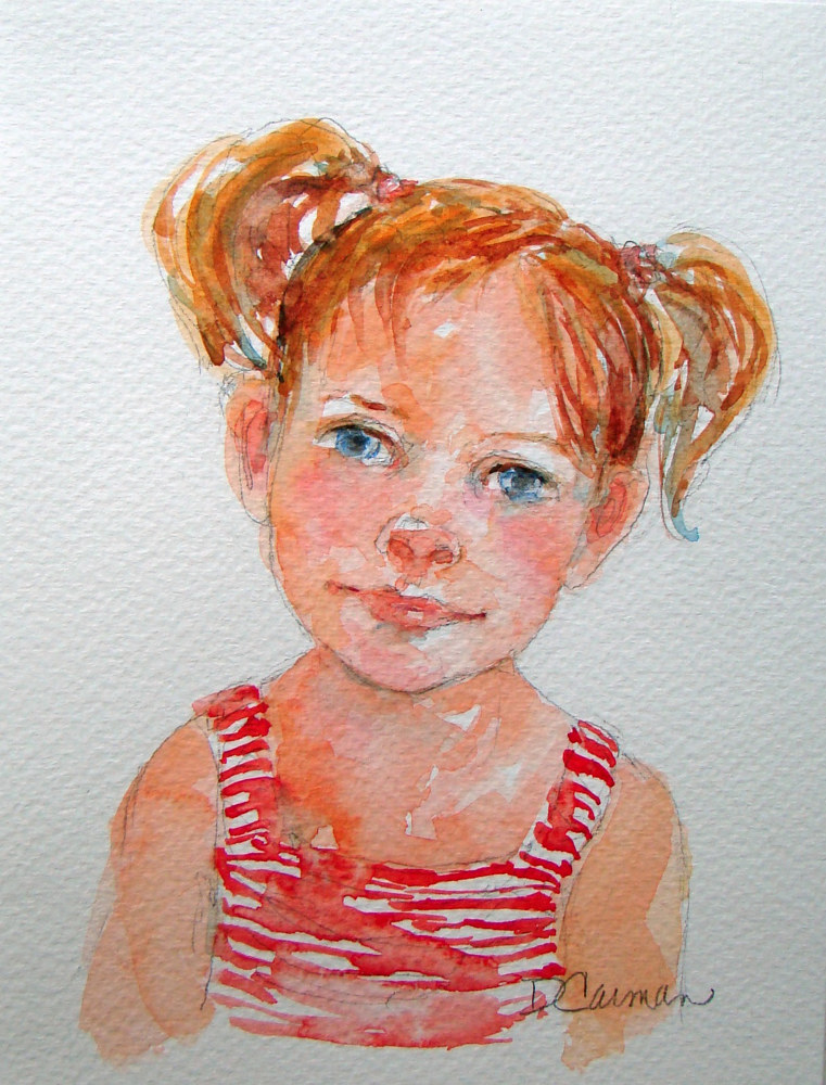 Painting Eloise by Deborah Carman
