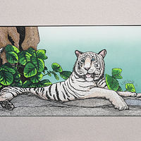 Painting White Tiger by Frans Geerlings