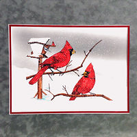Painting Cardinals in Snow by Frans Geerlings