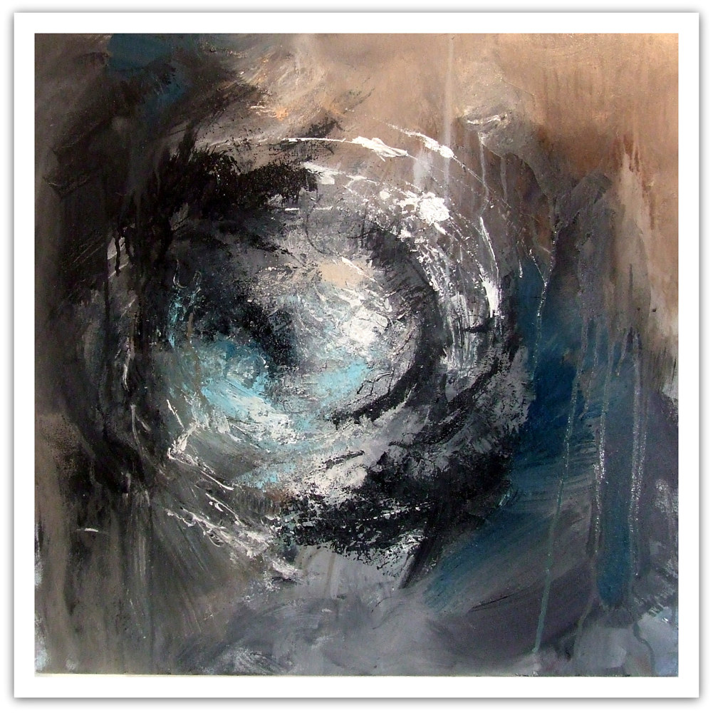 Force, mixed media,50x50cm by Anne Farrall Doyle