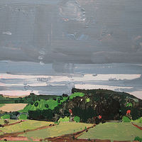 Acrylic painting Black Hill by Harry Stooshinoff