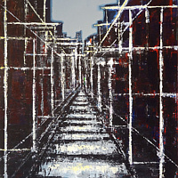 Acrylic painting Urban Composition #7 by David Tycho