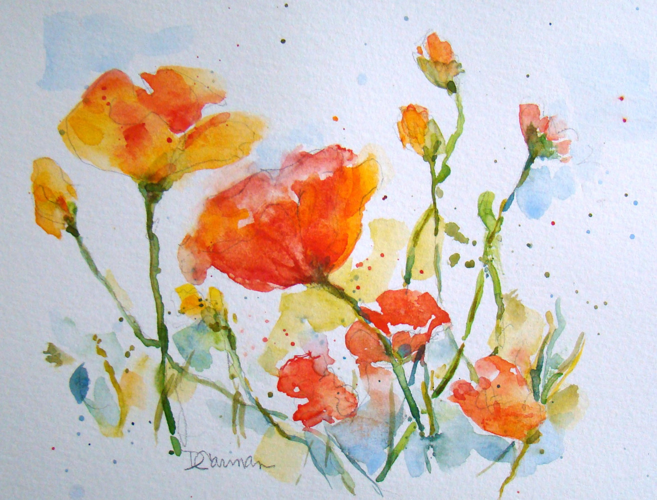 Painting Poppies by Deborah Carman