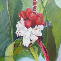 Oil painting Ornamental Bananas by Barbara Haviland