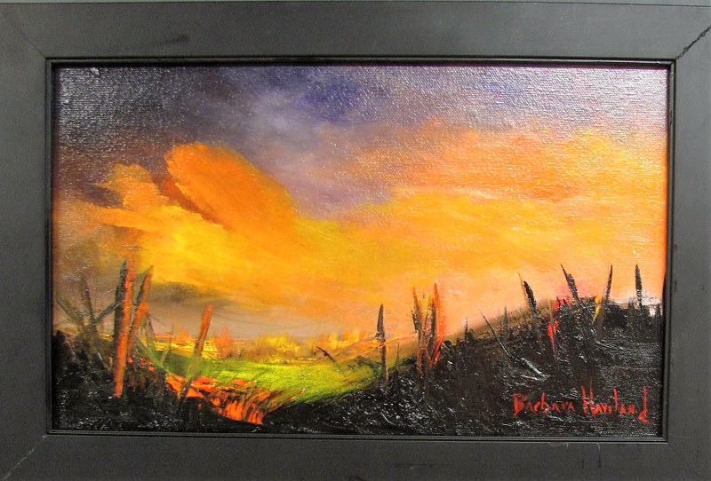 Oil painting Sunset by Barbara Haviland