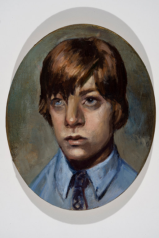 Oil painting Portrait Of The Artist As A Young Man by Mary Hayes