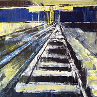 Acrylic painting Terminus #4 by David Tycho