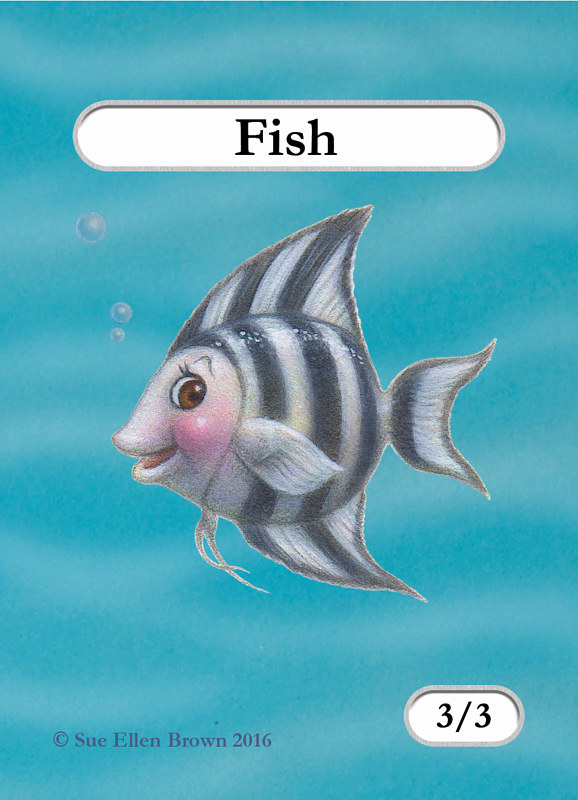 Drawing Fishie Jill by Sue Ellen Brown
