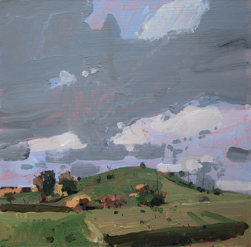 Acrylic painting Secret Field, October 24 by Harry Stooshinoff