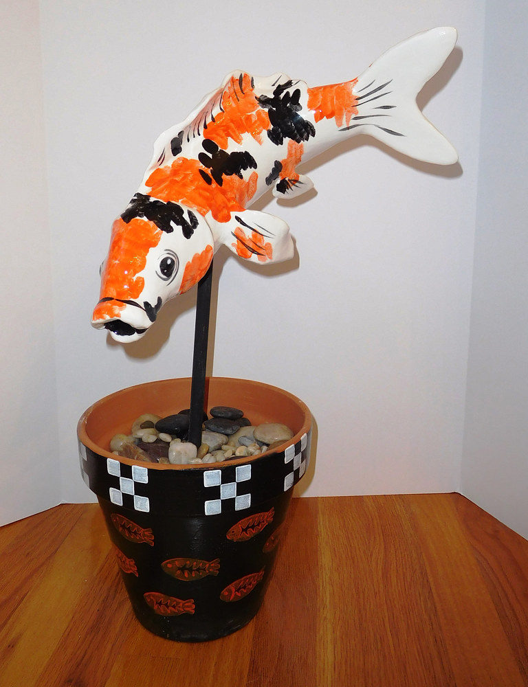ceramic Koi Fish by Valerie Johnson