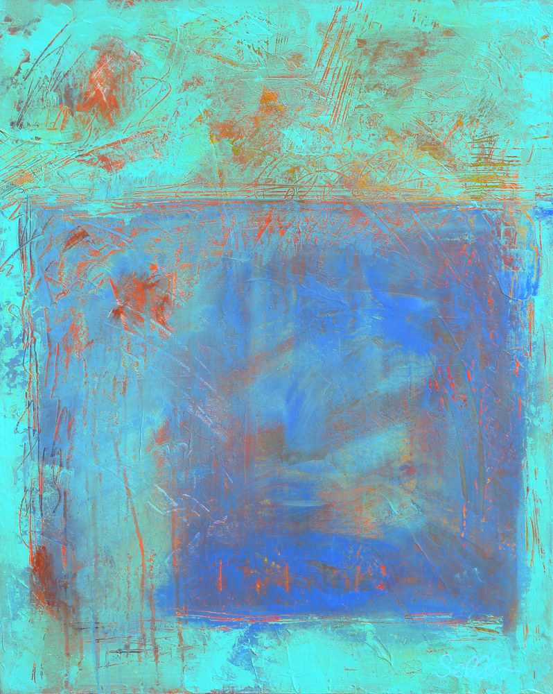 Acrylic painting Copper Blue by Gordon Sellen