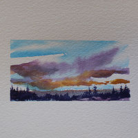 Watercolor Mauve Wonder by Wanda Hawse