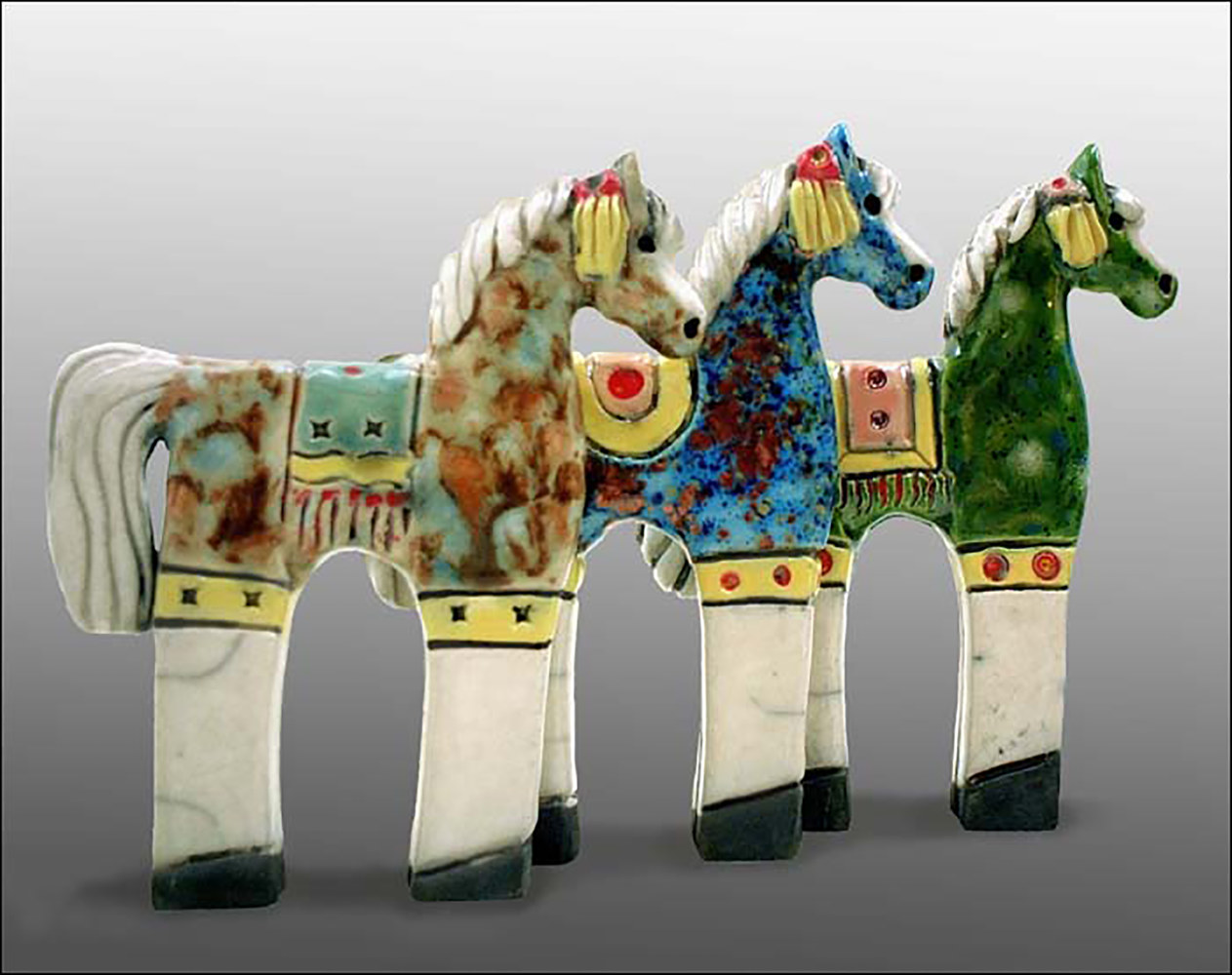 Painting Parade Horse by Cathy Crain