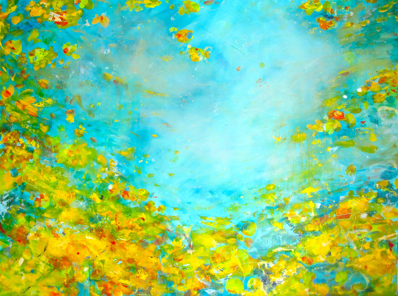 Acrylic painting Indian Summer  by Laura Spring