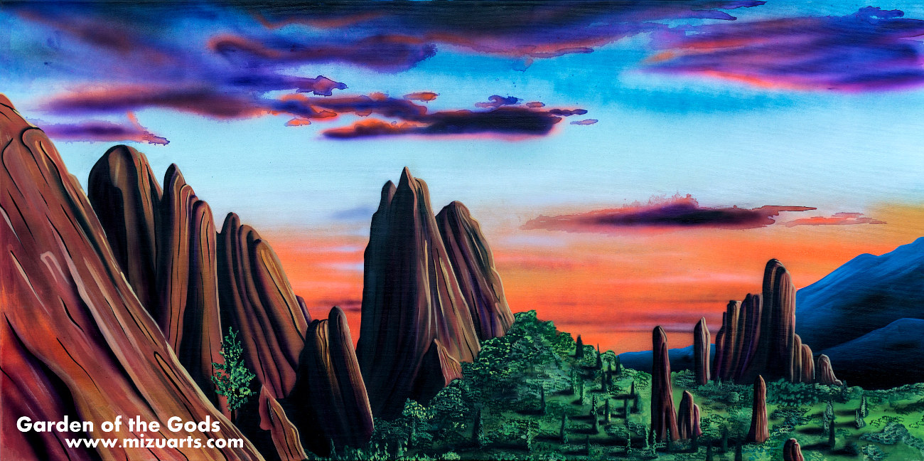 Acrylic painting Garden Of The Gods by Isaac Carpenter