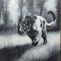 Acrylic painting Panther by George Servais