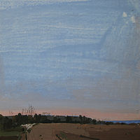Acrylic painting Dusk, Veterans' Day by Harry Stooshinoff