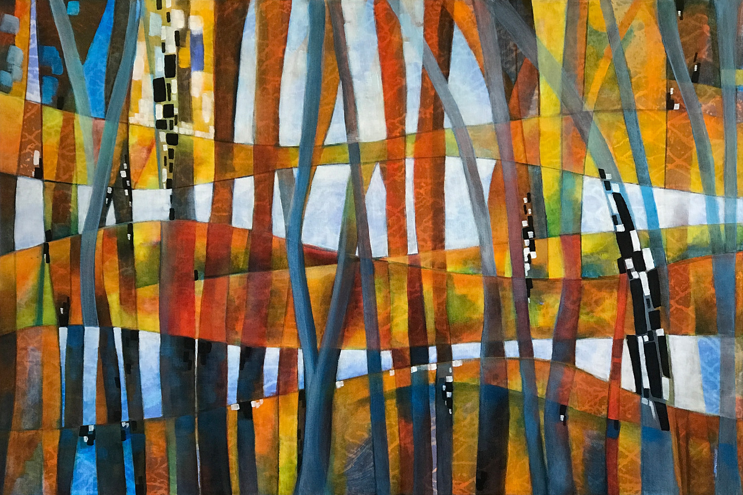 Acrylic painting Untangling by Karen Holland