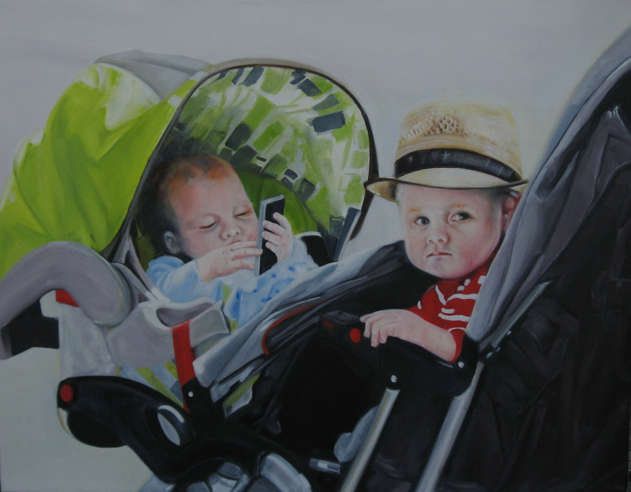 Oil painting New age baby. by Judith  Elsasser