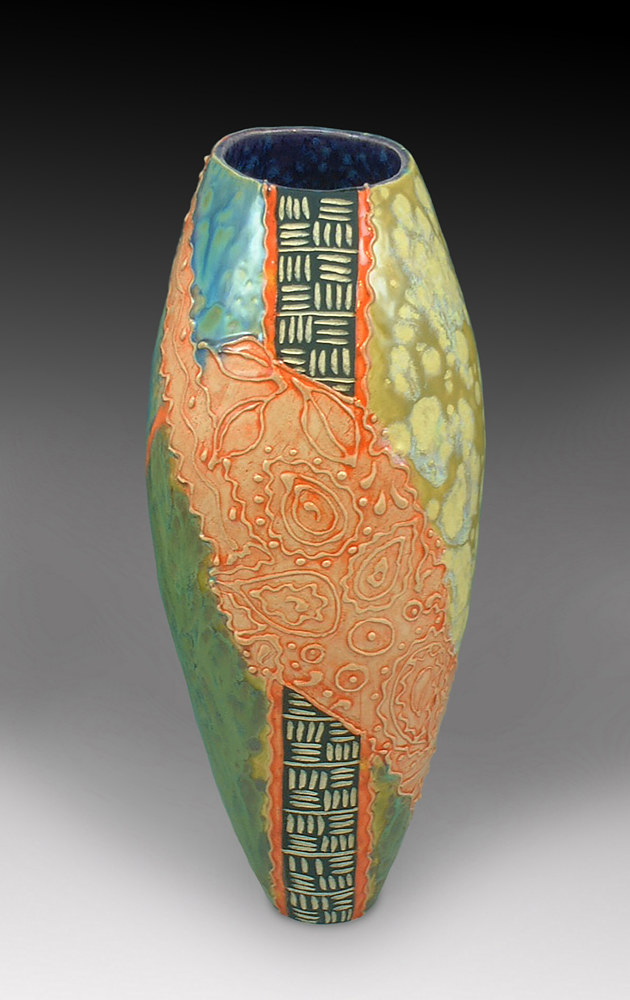 Paisley Vessel by Cathy Crain