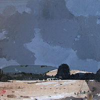Acrylic painting First Snow, Garden Hill by Harry Stooshinoff