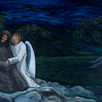 Acrylic painting Gethsemane by Denise Gracias