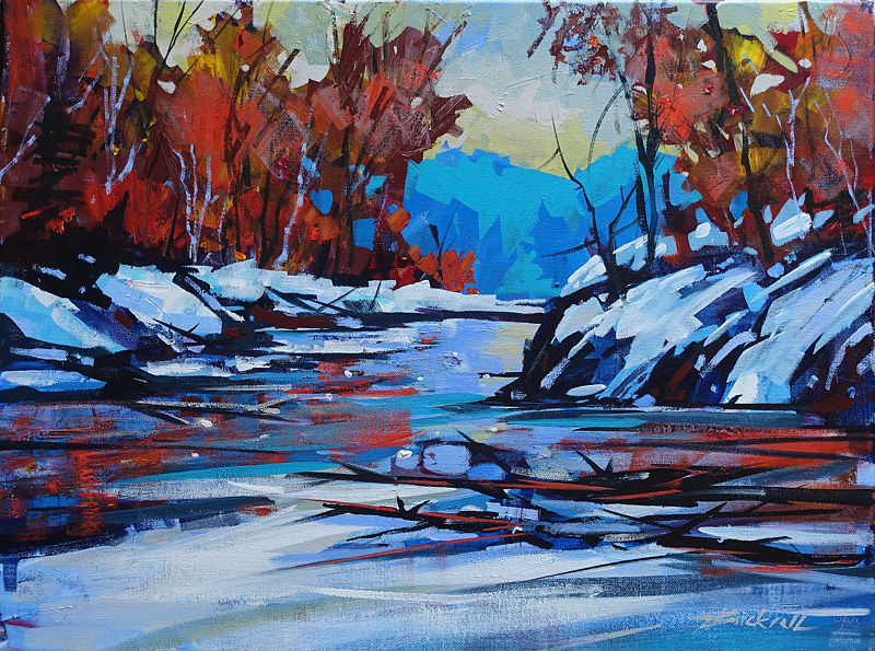 November River   Acrylic 18x24 2016 by Brian  Buckrell