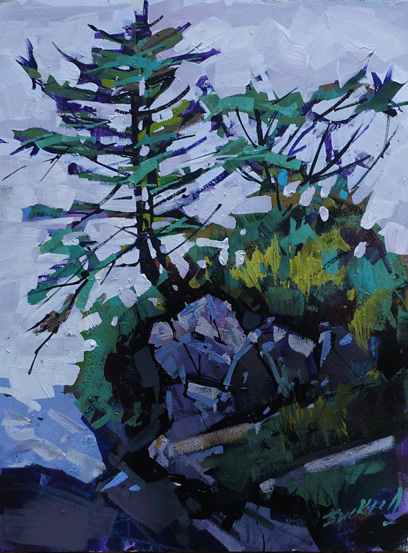 Pacifid Trail Ucluelet   Acrylic 12x16 2016 by Brian  Buckrell