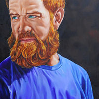 Oil painting Portrait of Carwen by Richard Mountford
