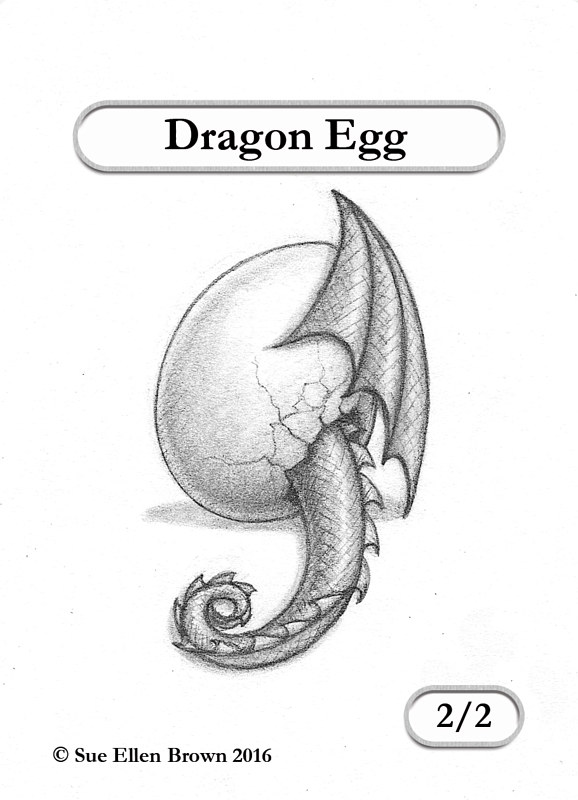 Drawing Dragon Egg  by Sue Ellen Brown