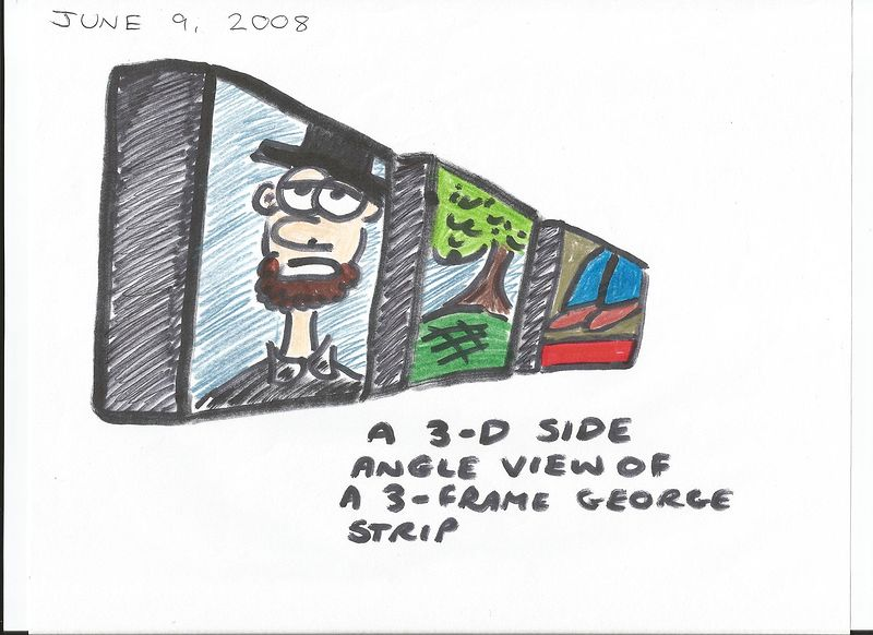 Side Angle View Of The George Comic Strip  by Sam Meisner