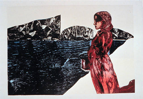 Pioneers: The Context, Lithograph and Relief, 76 x 91.5 by Julie Mcintyre