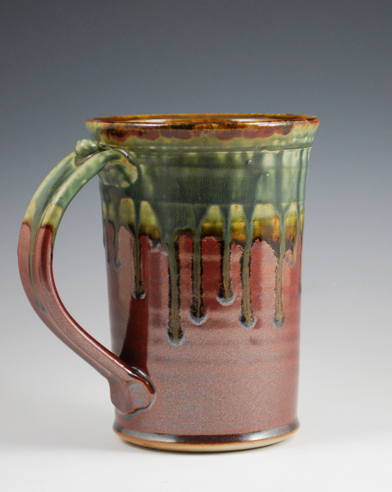 Ash Trail Stein with Rust Red on Bottom by Mark  Goertzen