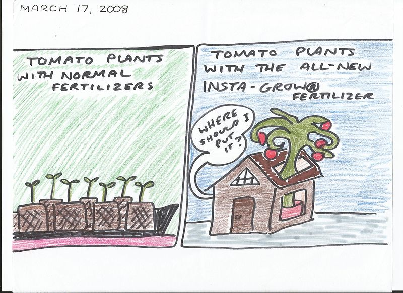 Tomato Plants & Fertilizers by Sam Meisner