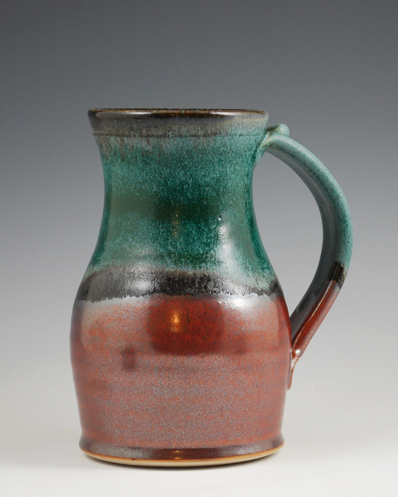 Verdant Marks Mug with Rust Red by Mark  Goertzen