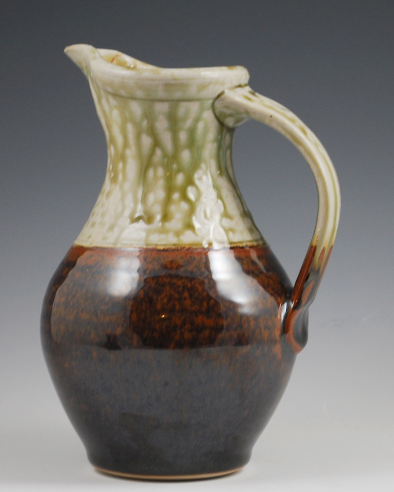 Jade Pitcher with Chocolate on Bottom by Mark  Goertzen