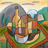 Acrylic painting Still Life With Dwelling by Trevor Pye
