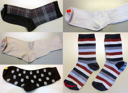 Fun colors on favorite socks by Pat Auterieth