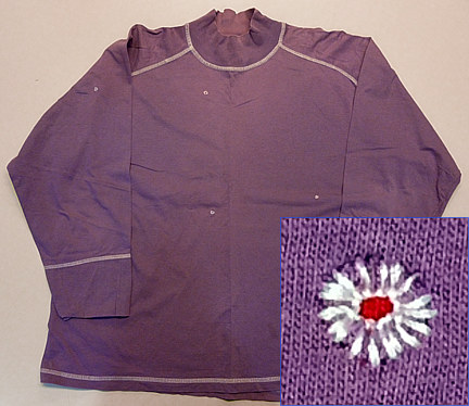 Red violet long sleeved T by Pat Auterieth