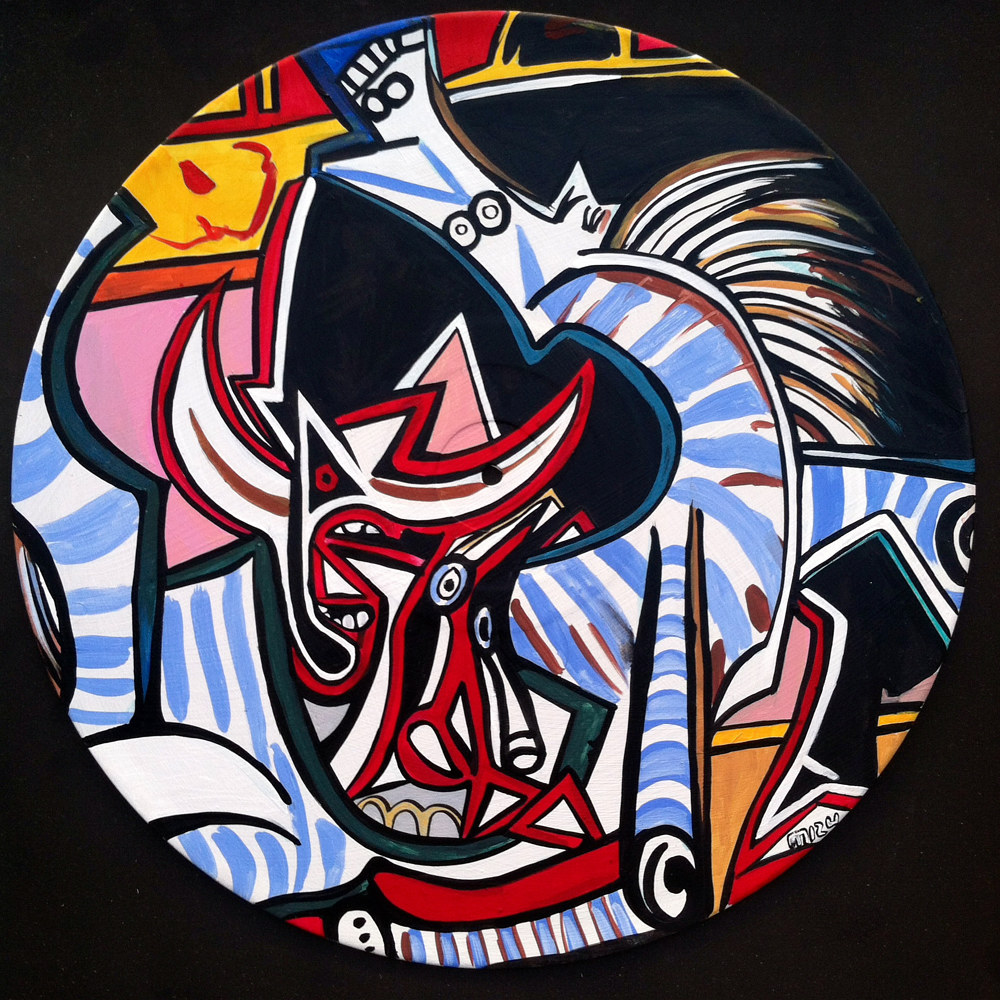 Bullfight - Recreation of Picasso  by Isaac Carpenter