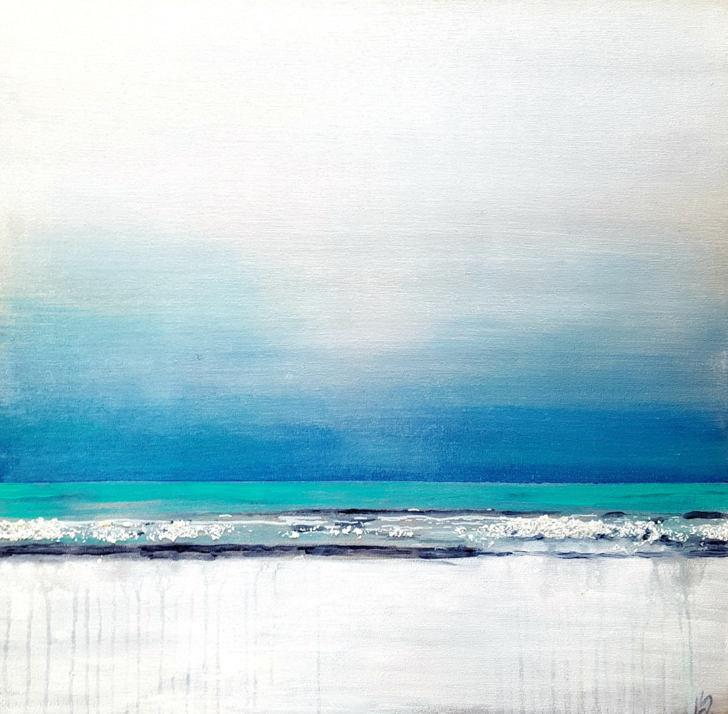 Acrylic painting Baltic Bereeze by Laura Spring