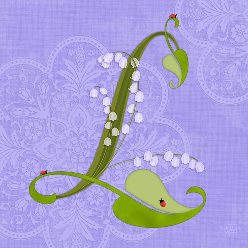 L is for Lily of the Valley  by Valerie Lesiak