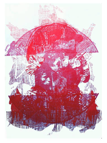 Sacred Circle:The Martyrs, Lithograph and Relief, 51.5 x 73 cm by Julie Mcintyre