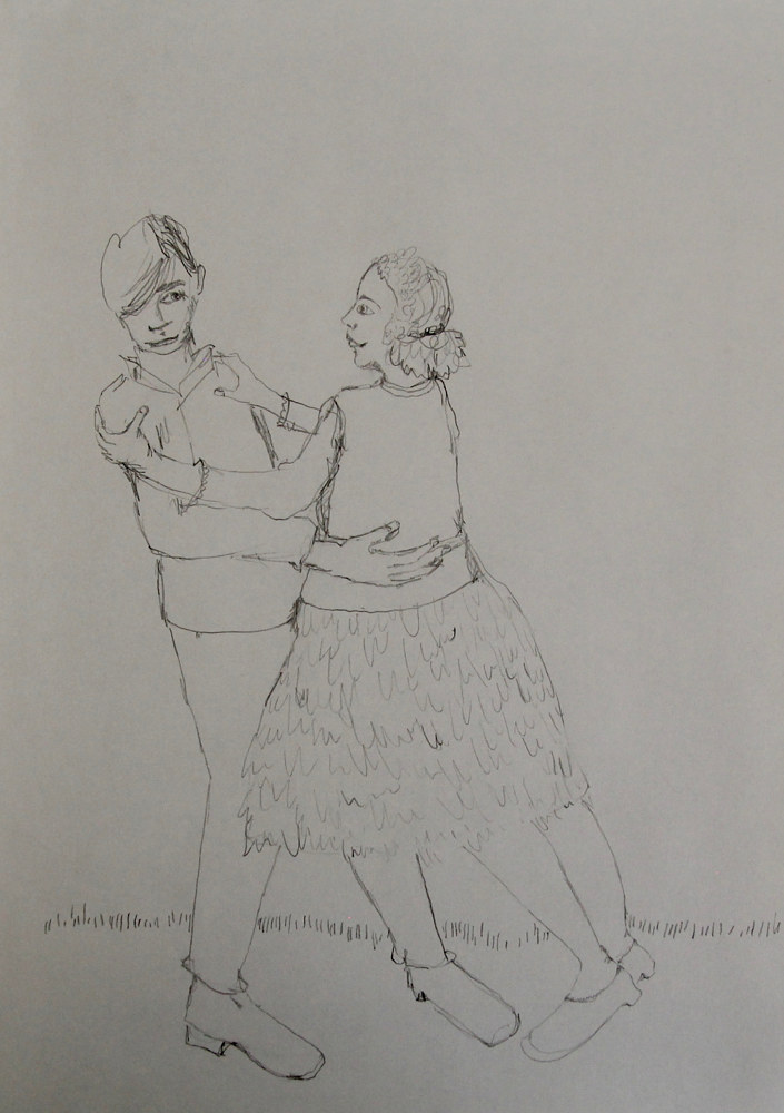 Drawing untitled (sixteen) by Katherine Bennett