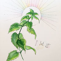 Watercolor Stacey Sproule - Nettle by Julie Gladstone