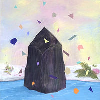 Acrylic painting Rebecca Chaperon - Black Crystal Iceberg by Julie Gladstone