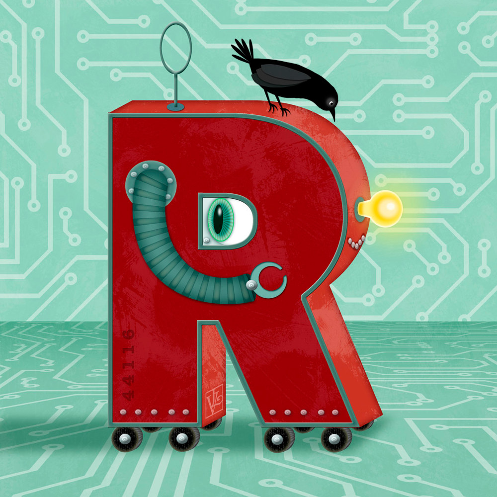 R is for Robot  by Valerie Lesiak