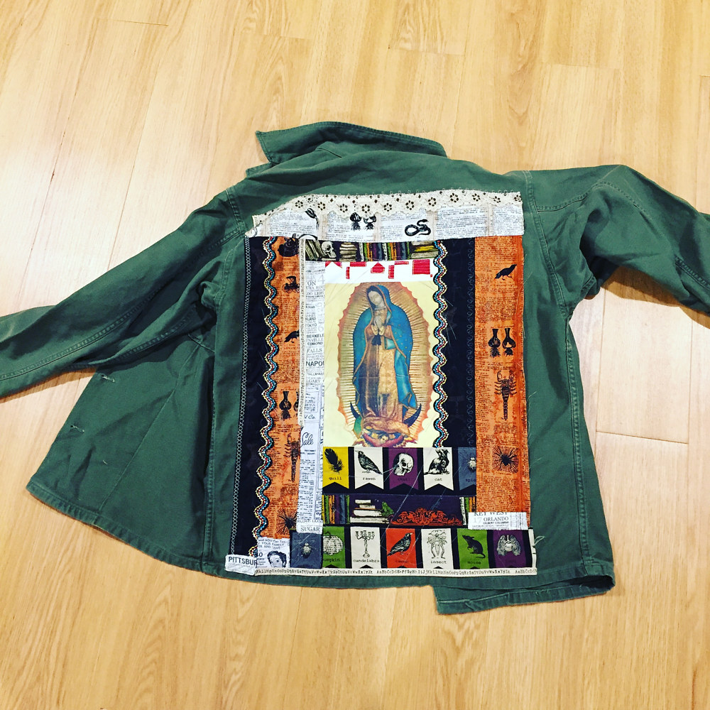 Art Quilt added to Jacket by Maday Delgado