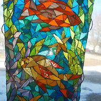 Fish stained glass mosaic by Karen Spears
